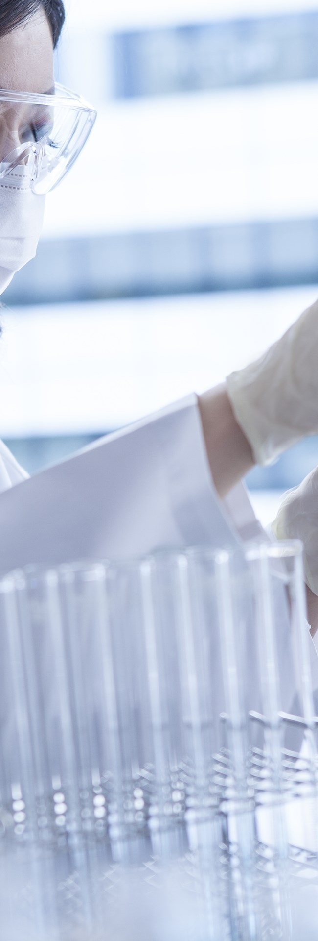 Female working in lab