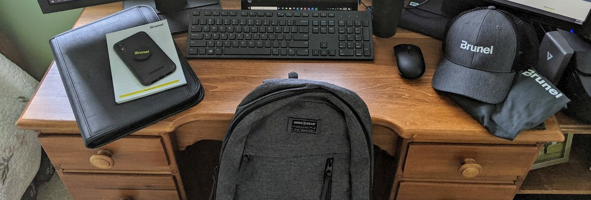Brunel swag and computer monitors