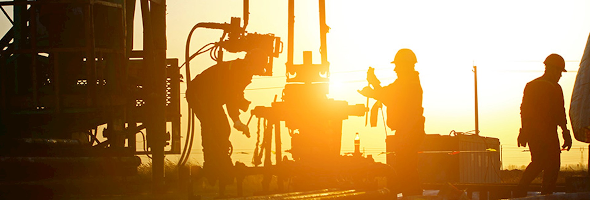 Oil rig workers