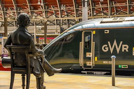 Statue of Isambard Kingdom Brunel at London Paddington railway station