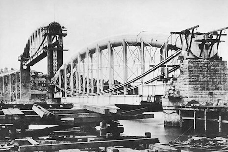 Royal Albert Bridge under construction