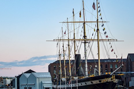 The SS Great Britain in Bristol Harbor