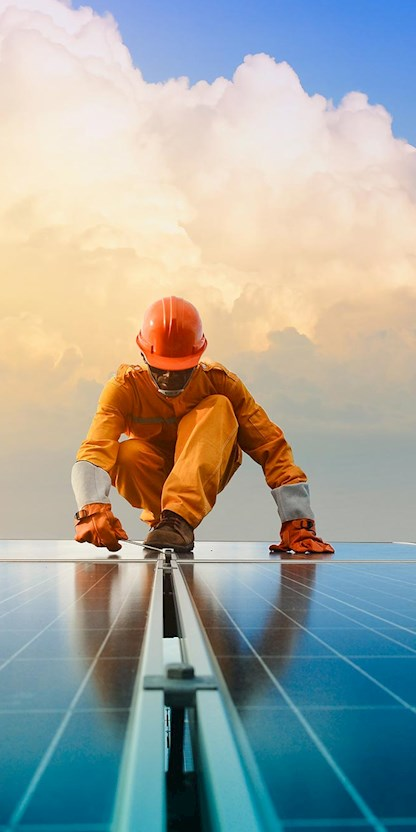 Solar power worker