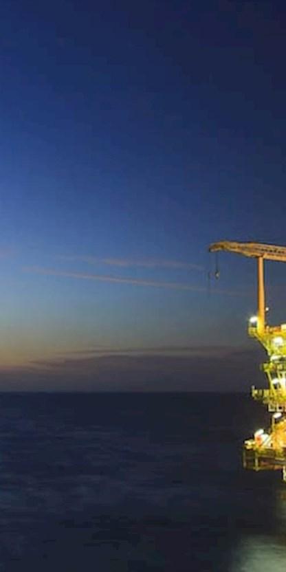Oil platform offshore