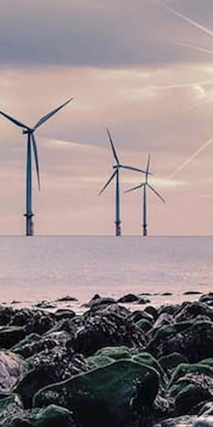 Wind turbines over water