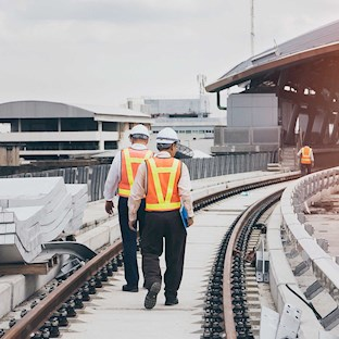 Inspecting rail line