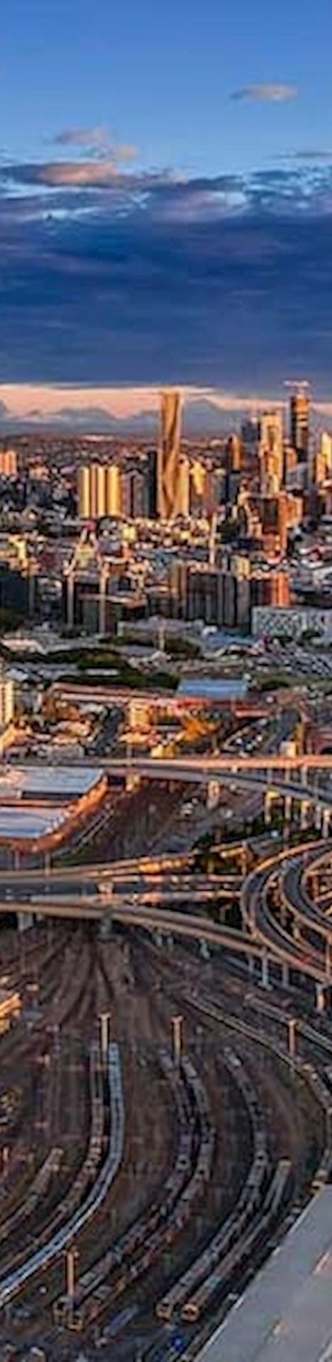 Brisbane Australia from the air