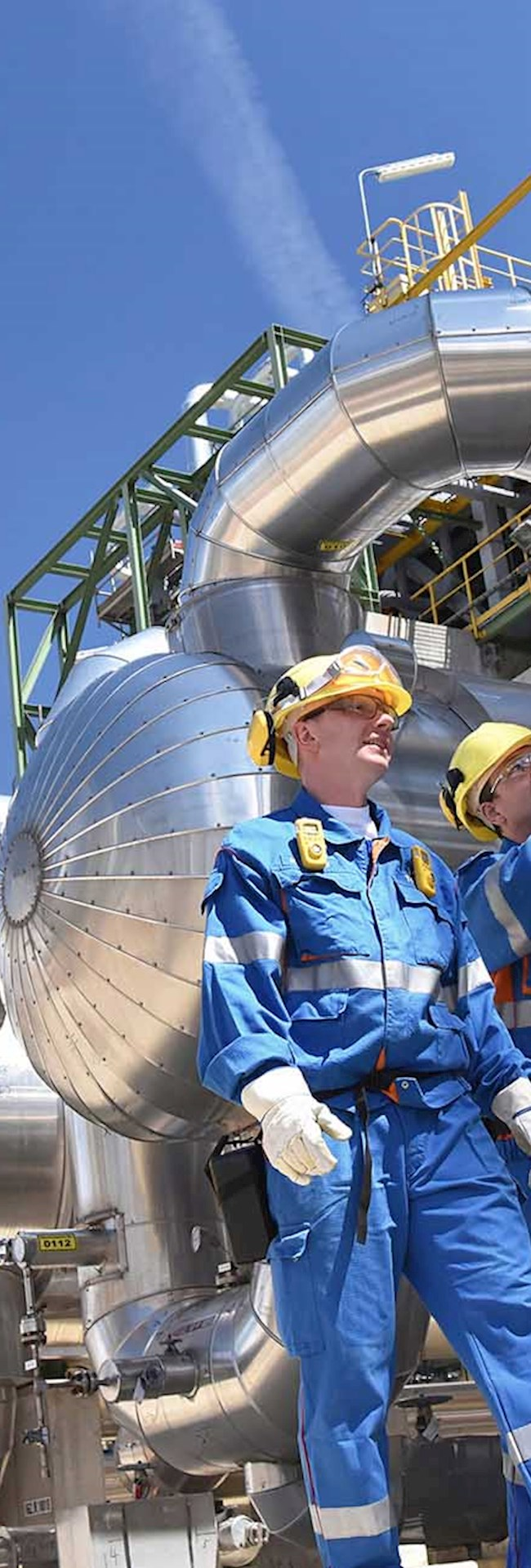 Oil and Gas plant workers