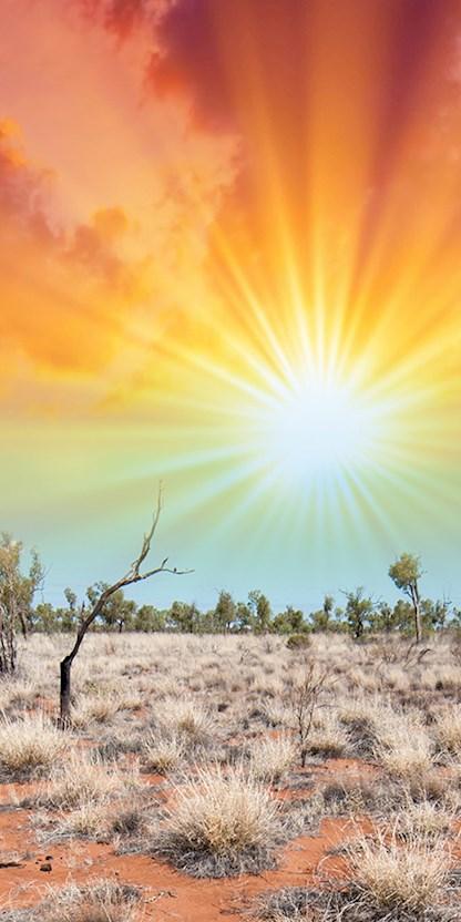 Australian desert horizon
