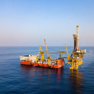 engineer working on offshore platform