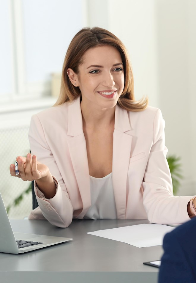 manager conducting job interview
