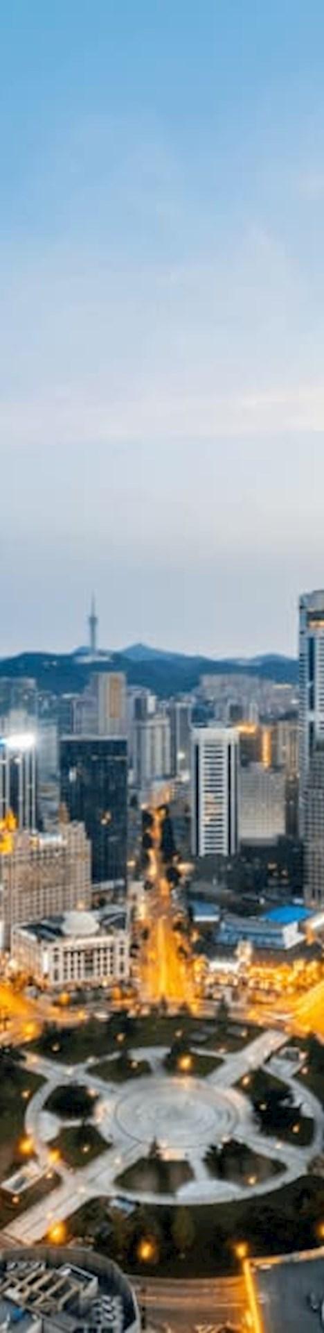 Skyline of Dalian, China