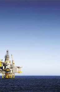 Mosaic Secundary Oil Platform In Ocean