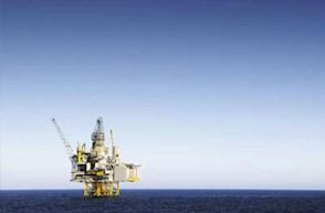 Mosaic Secundary Oil Platform In Ocean