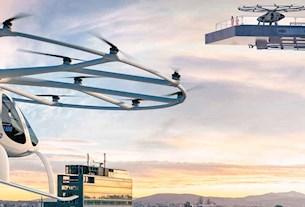 Stadtverkehr in der Luft