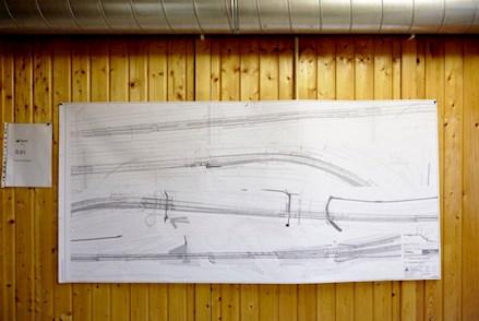 Modelzeichnung aus dem Bereich Schienenverkehrstecknik zur Planung einer Streckenoptimierung