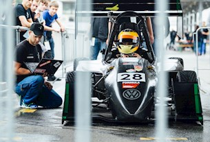 Formula Student Rennwagen des Herkules Racing Teams aus Kassel