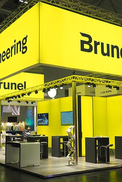 Messestand von Brunel