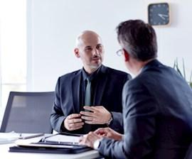 Account Manager im Bewerbungsgespräch