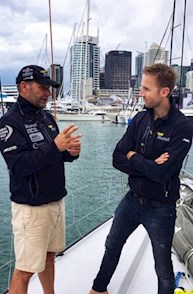René Rast auf dem Volvo Ocean Race