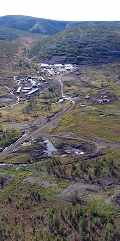 Copper Field  in Peschanka / Baimskaya in Russia