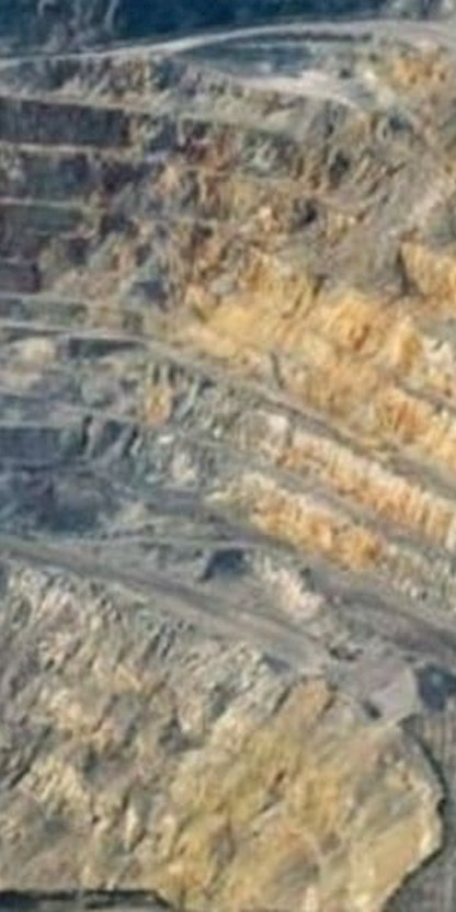 Grasberg mining site