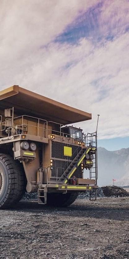 Dump trucks at coppermine